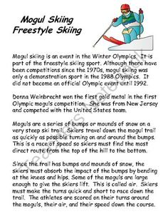 Winter Olympics-Reading Comprehension and Writing from Sallys Shoppe on TeachersNotebook.com -  (55 pages)  - This winter Olympics theme product includes informational texts, activities and worksheets that review comprehension skills and writing skills and strategies.