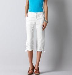 Marisa Cargo Pants in White Cotton Poplin White Capris, Petite Tops, Cargo Pants, White Cotton, Poplin, Beachwear, Style Me, Stylish, Casual