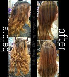 Red & Blonde Highlights @MMillerStylist #MMillerStylist #xtremesalon #brokenarrow #hair #highlights #longhair