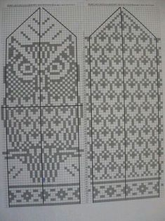 57 best ideas for knitting patterns mittens tricot Knitted Mittens Pattern, Knitted Gloves, Knitting Socks, Baby Knitting, Knitting Charts, Knitting Patterns Free, Owl Knitting Pattern, Free Pattern, Owls