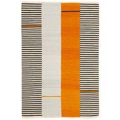 Lauren Ralph Lauren Aryn Stripe Handwoven Flatweave Wool Persimmon Area Rug Rug Size: Rectangle x Orange Gris, Modern Art Styles, Classic Rugs, Striped Rug, Orange Area Rug, Outdoor Area Rugs, Beige Area Rugs, Rugs On Carpet, Rug Size