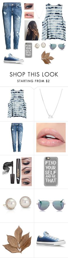 """""""Summer Converse"""" by meganlynntaylor on Polyvore featuring RVCA, Dogeared, Casetify, Blue Nile, Cutler and Gross, Bliss Studio and Converse"""