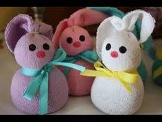 Easter Sock Bunnies | How to make | Hannah Spannah - YouTube