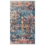 Vintage Persian Turquoise/Multi 3 ft. x 5 ft. Area Rug