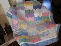 ZIG ZAG QUILT.  What a great way to use scraps.