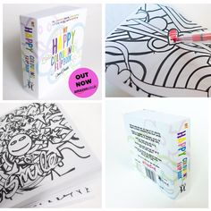 more pics of #HappyBook you can get it here: http://amzn.to/1MHFXNQ  support @MindCharity & get #AdultColouring