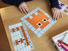 Lees een code maak een figuur en pixels Leeftijd 5 – 8 jaar Het Spel Wanneer ik de doos van coderen met pixels openmaak zit er het volgende in: een handleiding 6 opdrachtkaarten deze horen bij de 7 x 7 vakjes 6 opdrachtkaarten met een gele lijn deze horen bij de 6 x 6 …