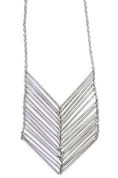 iSanctuary Chevron Silver Necklace | Paisley Print Boutique