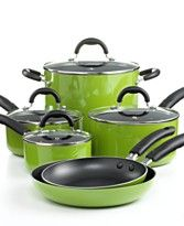 $99.99 Nonstick Enamel Cookware Set, 10 Pieces