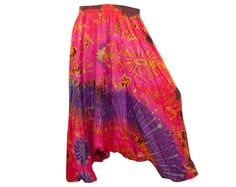 Colorful Tie Dye Thai Harem Pants by AsianCraftShop on Etsy, $27.00