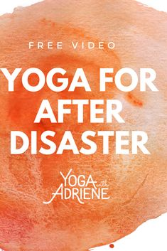 Yoga For After Disaster is a 30 min healing yoga and meditation practice to help you find comfort and peace... post disaster. Use the tools of yoga and pranayama to guide yourself inward so that you can move through the world with love and grace. Perfect for anxiety, stress or trauma. We are all in this together. Connect to the big picture, unplug and restore.