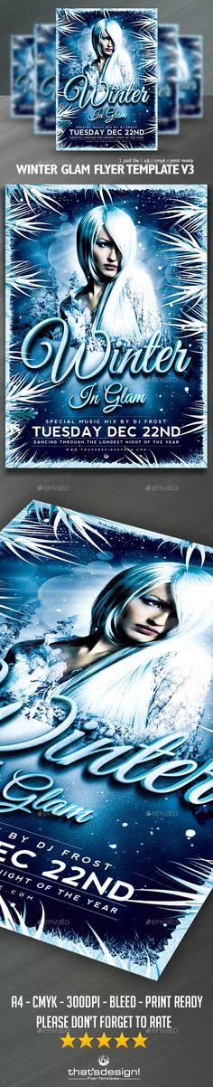 Winter Bash Flyer Template V1 Flyer template