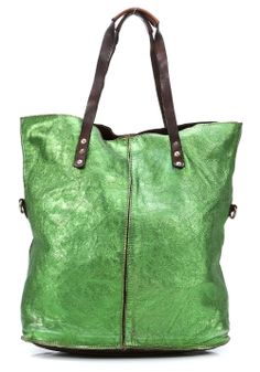 Lavata Tote Leather green 45 cm