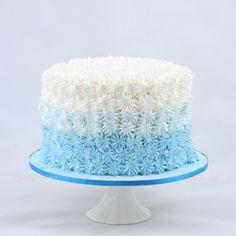 Boys blue smash cake