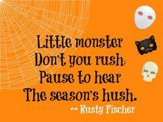 Season's hush... A Halloween poem