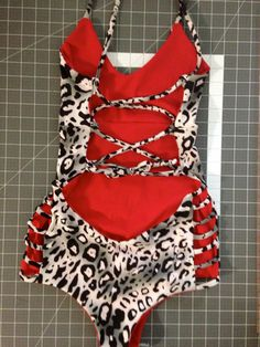 A personal favorite from my Etsy shop https://www.etsy.com/listing/215680837/large-reversible-one-piece-swimsuit-with