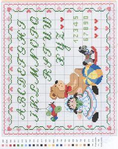 Παιδικές σταυροβελονιές με γράμματα - Cross stitch letters ~ Mama from Greece