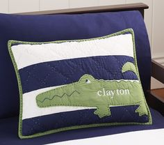 Pottery Barn Alligator Madras Bedding Baby Fever Crib
