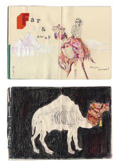 Sketchbook spread by Tree Abraham. #sketchbook