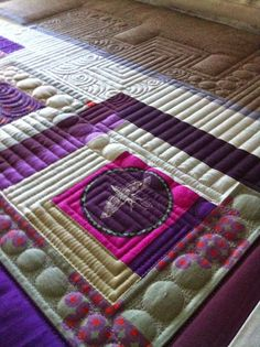 Bubbles and straight lines by Krista Withers Quilting