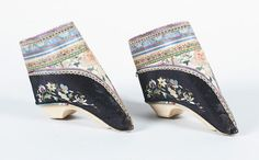 Two pairs of Chinese foot binding shoes