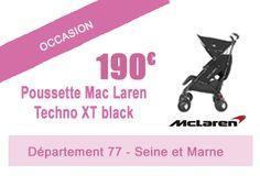 190€ -> OCCASION: Poussette Mac laren techno XT noir + habillage pluie