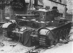 Cromwell 1944 via Ronnie Bell. The British Cromwell VIII No. T187608 of the 7th British Armored Division, commanded by Sergeant Gerald Holloway, was knocked out in Villers-Bocage by a German Tiger tank commanded by the famous German tank commander SS Michael Wittmann .