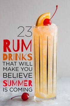 23 Rum Drinks That Will Make You Believe Summer Is Coming @buz  #kombuchaguru #smoothies Also check out: http://kombuchaguru.com