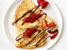 Food Network invites you to try this Stuffed Crepes recipe from Food Network Kitchens. Overnight Breakfast Casserole, Savory Breakfast, Make Ahead Breakfast, Breakfast Bake, Sweet Breakfast, Breakfast Dishes, Savory Crepes, Breakfast Ideas, Breakfast Pancakes