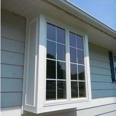 Box Bay Window Gallery Lawrenceville Home Improvement Bay Window Exterior, Bay Window Shutters, Windows And Doors, Bay Windows, Garden Windows, Exterior Makeover, Home Upgrades, Window Design, Window Ideas