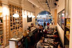 Love the ladder behind the bar Restaurant Recipes, Restaurant Design, Station Restaurant, St Lawrence Market, Toronto Life, Cafe Bar, Ontario, Architecture Design, The Neighbourhood