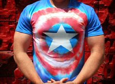 How to: Make a Captain America Tie Dye T-Shirt