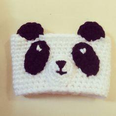 Panda bear coffee cup cozy :) @LilMermaidHooks