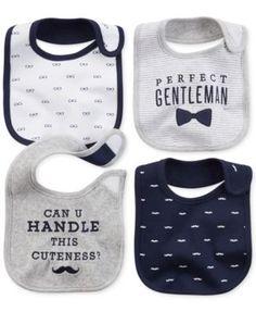 Carter's Baby Boys' 4-Pack Gentlemanly Bibs