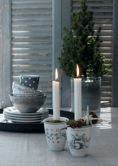 New GreenGate collection Autumn/Winter 2013: Winter Feelings Ceramic Cups Audrey Grey