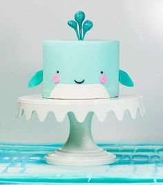 motivtorten selber machen ein wal als torte kindertorten selber machen so schon make yourself a whale as a cake pie for children themselves make it so Baby Cakes, Baby Shower Cakes, Cupcake Cakes, Pink Cakes, Pretty Cakes, Cute Cakes, Baby Cake Design, Whale Cakes, Whale Diaper Cake