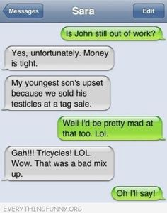 funny auto-correct texts - My Top 25 Favorite Autocorrect Fails Text Jokes, Funny Text Fails, Funny Text Messages, Fallout 3, Stupid Texts, Fail Texts, Auto Correct Texts, Auto Correct Fails, Autocorrect Funny