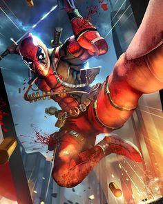 Deadpool Art by Pedro Sena Marvel Comics, Fun Comics, Marvel Art, Marvel Heroes, Marvel Characters, Deadpool Art, Lady Deadpool, Deadpool Stuff, Batman Art