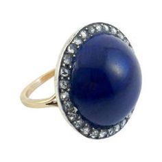 Lapis Lazuli and Diamonds Rings - 1900s