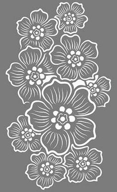 Grand Sewing Embroidery Designs At Home Ideas. Beauteous Finished Sewing Embroidery Designs At Home Ideas. Hand Embroidery Patterns Free, Embroidery Flowers Pattern, Simple Embroidery, Paper Embroidery, Stencil Patterns, Stencil Designs, Paper Patterns, Stencil Templates, Large Stencils
