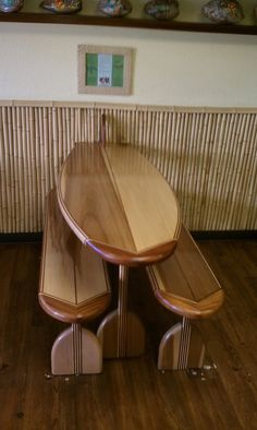 Hand Made Surf Board Tables by Saw Tooth Designs