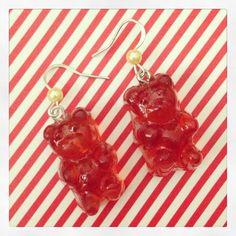 Jelly Bear earrings :3 gnam!