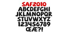 SAF ☞ http://http://www.hypefortype.com/saf.html The 2010 South Africa World Cup logo, vectored into a full tribute alphabet.