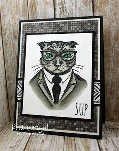 Hip Cat in Gray