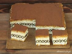 Obżarciuch: Ciasto z rurkami w 15 minut Icebox Cake, Polish Recipes, No Bake Desserts, Let Them Eat Cake, Cake Cookies, Cake Recipes, Bakery, Food And Drink, Cooking Recipes