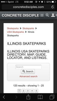 Skatepark Website