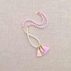The Emma Tassel Necklace by LovesAffect on Etsy