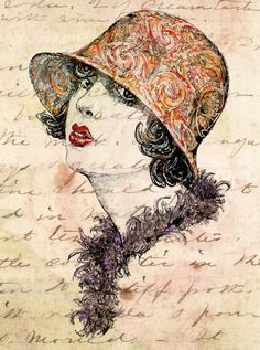 "Love letter, Retro image, Woman's portrait, Vintage style, Shabby Shic, Old Fashion poster - Giclee Art Print 13"" x 17"" by Oldpassion. $35.00, via Etsy."