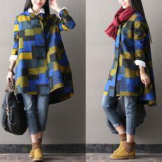 Asymmetric double breasted wool coat from Fashion Sky by DaWanda.com