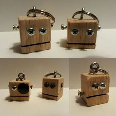 Key rings made of beech wood. Wooden Projects, Wooden Crafts, Kids Wood, Father's Day Diy, Wood Creations, Wooden Blocks, Wood Toys, Wood Carving, Key Rings